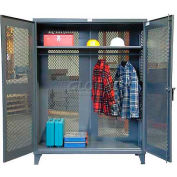 Strong Hold® Heavy Duty All-Vented Wardrobe Cabinet 56-VBS-241WR - With Full Rod 60 x 24 x 78