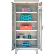 Strong Hold® Heavy Duty Weather Resistant Outdoor Storage Cabinet 56-WP-244 - 60 x 24 x 79-3/4