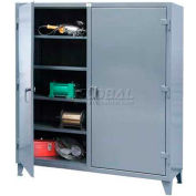 Strong Hold® Independent Locking Cabinet 65-DS-246 - Double Door 72 x 24 x 66