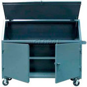 Strong Hold® Heavy Duty Slim-Line Mobile Job Site Cabinet 652UJBCA - 72 x 24 x 61 1/16