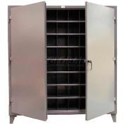 Strong Hold® Heavy Duty Multifaceted Metal Bin Compartment Cabinet 66-247-72OP - 72 x 24 x 78