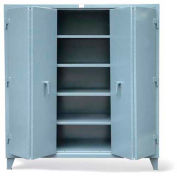 "Strong Hold Heavy Duty Cabinet  with Bi-Fold Doors 66-364-BFD - 72""W x 36""D x 78""H"