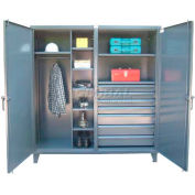 Strong Hold® Heavy Duty Combination Cabinet 66-DSW-247-7DB - 72 x 24 x 78