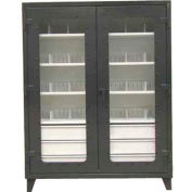 Strong Hold® Heavy Duty On-Site See-Thru Storage Cabinet 66-LD-244-6/5DB-24DIV - 72 x 24 x 78