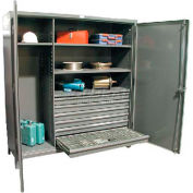 Strong Hold® Heavy Duty Drawer Cabinet 66-W-244 -6DB-DI - 72 x 24 x 78