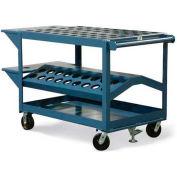 "Strong Hold® Tool & Die Cart DC-3248-1/2C5-2VS-FLK -  48""W x 32""D x 40""H"