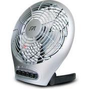 """SPT® Desktop Fan With Ionizer, 7"""" Blade, 3 Speed Fan, 28° Adjustable Head, 488 CFM"""