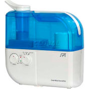 Sunpentown SPT® Dual Mist Humidifier W/ION Exchange Filter, Up To 500 Sq. Ft., 4L Tank, BL/WH