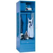 Penco 6WFD33-722 Stadium® Locker With Shelf Security Box & Footlocker 24x24x76 Red All Welded
