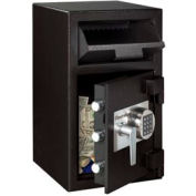 """SentrySafe Front Loading Depository Safe DH-109E - 14""""W x 15-5/8""""D x 24""""H, Black"""
