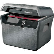 """SentrySafe Water and Fire File FHW40200 with Key Lock 16-5/8""""W x 13-13/16""""D x 14""""H Charcoal Gray"""