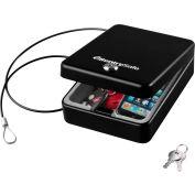 "SentrySafe Compact Portable Security Box Safe P005K Key Lock, 5-15/16""W x 8""D x 2-5/8""H, Black"