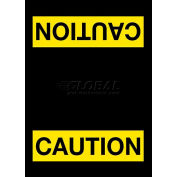 """NoTrax® Caution Safety Message Mat 3/8"""" Thick 4' x 6' Black"""