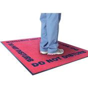 """NoTrax Do Not Disturb 3/8"""" Thick Logo Floor Mat, 3' x 5' Red"""