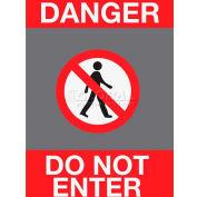 NoTrax® Safety Message Mat 194 Danger Do Not Enter 3x5 - Charcoal