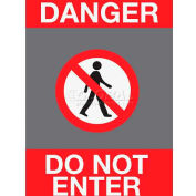 NoTrax® Safety Message Mat 194 Danger Do Not Enter 4x6 - Charcoal