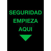 NoTrax® Safety Message Mat 194 Seguridad Empieza Aqui 4x6 - Black