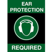NoTrax® Safety Message Mat 194 Ear Protection Required 4x6 - Black