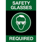 NoTrax® Safety Message Mat 194 Safety Glasses Required 4x6 - Black