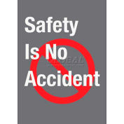 "NoTrax® Safety Message Mat, Safety Is No Accident, 3/8"" Thick, 4'x6', Charcoal"