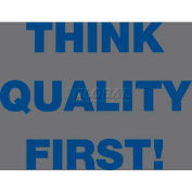 NoTrax® Safety Message Mat 194 Think Quality First 4x6 - Charcoal