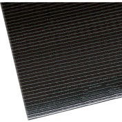 "NoTrax Razorback 1/2"" Thick Safety-Anti-Fatigue Floor Mat, 2' x 60' Black"