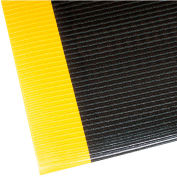 "NoTrax Razorback 1/2"" Thick Safety-Anti-Fatigue Floor Mat, 4' x 60' Black/Yellow"