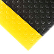 """NoTrax Bubble Sof-Tred 1/2"""" Thick Safety-Anti-Fatigue Floor Mat, 2' x 3' Black/Yellow"""