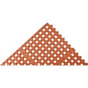 "Akro Cushion-Connect 1/2"" Thick Anti-Fatigue/Anti-Slip Classic Floor Mat, 3' x 3' Red"