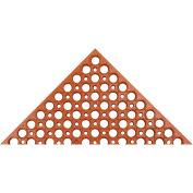 "Akro Drain-Step 3/4"" Thick Anti-Fatigue/Anti-Slip Classic Floor Mat, 3' x 5' Red"