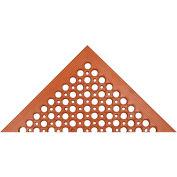 "Akro Beveled Drain Step Classic 1/2"" Anti-Fatigue/Anti-Slip Thick Floor Mat 3' x 5' Red"