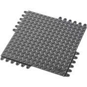"NoTrax® De-Flex™ ESD Anti Fatigue Modular Mat Tile 3/4"" Thick 18"" x 18"" Black"