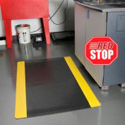 """NoTrax® Saddle Trax® Anti Fatigue Mat 1"""" Thick 3' x Up to 75' Black/Yellow Border"""