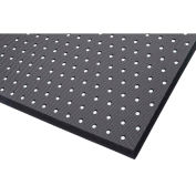 "NoTrax Superfoam Perforated 5/8"" Thick Safety/Anti-Fatigue Floor Mat, 3' x 3' Black"