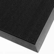 "NoTrax® Finger Scrape® Entrance Mat, 3/8"" Thick, 3' x 6', Black"