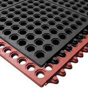"""NoTrax® T32 Ultramat® Anti Fatigue Drainage Mat 1/2"""" Thick 3' x 3' Black"""