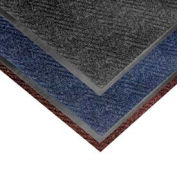 Chevron Heavier Weight Carpet Mat - 4' x 6' Slate Blue