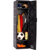 """Suncast 4800SPTBD Plastic Kids Sport Locker 14""""W x 14-1/4""""D x 49""""H Black"""