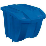 Suncast BH181212 18 Gallon Stacking Hopper Bin, Blue w/Blue Lid, Price Each, Sold In Pack of 8 - Pkg Qty 8