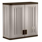 "Suncast Plastic Wall Storage Cabinet BMC3000 - 30""W x 12""D x 30-1/4""H, Platinum"