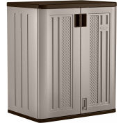 "Suncast Plastic Counter Height Storage Cabinet BMC3600 - 30""W x 20-1/4""D x 36""H, Platinum"