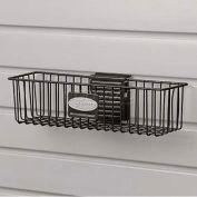 "Wire Basket, 12"" W X 3"" D X 3-3/4"" H, Black - Pkg Qty 6"