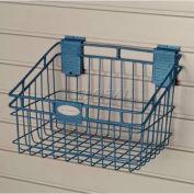"Suncast® Trends® Garage Storage Wire Basket, 8"" W X 12"" D X 8-5/16"" H, Blue - Pkg Qty 6"
