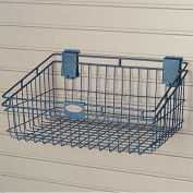 "Wire Basket, 18"" W X 12"" D X 8-3/4"" H"", Blue - Pkg Qty 6"