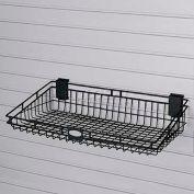 "Suncast® Trends® Garage Storage Wire Basket, 24"" W X 12"" D X 5-3/8"" H, Black - Pkg Qty 4"