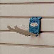 "Suncast® Trends® Garage Storage 8"" Metal Double Hook, Blue - Pkg Qty 6"