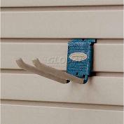 """Suncast® Trends® Garage Storage 8"""" Metal Double Hook, Blue - Pkg Qty 6"""