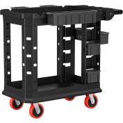 Suncast Commercial Utility Cart, Heavy Duty Plus, 19 x 37