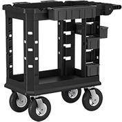 Suncast Plastic Utility Cart Heavy Duty Plus Pneumatic,19x37-PUCPN1937