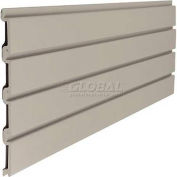 "Slat Wall 48"" W X 3/4"" D X 12"" H Section, Light Taupe - Pkg Qty 6"